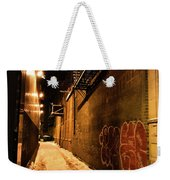 Chicago Alleyway At Night Weekender Tote Bag
