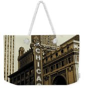 Chicago Cinema Theater - Vintage Photo Art Weekender Tote Bag