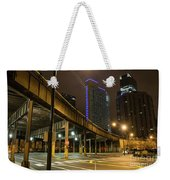 Chicago City Streets Weekender Tote Bag
