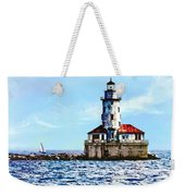 Chicago Il - Chicago Harbor Lighthouse Weekender Tote Bag