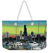 Chicago Marina Weekender Tote Bag