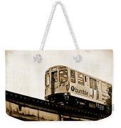 Chicago Metra Sepia Weekender Tote Bag