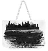 Chicago Skyline Brush Stroke Black Weekender Tote Bag