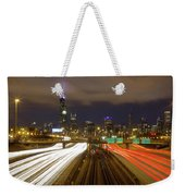 Chicago Skyline South Side View Weekender Tote Bag