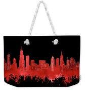 Chicago Skyline Watercolor 5 Weekender Tote Bag
