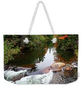 Chikanishing River In Autumn Weekender Tote Bag