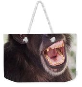 Chimp With Mouth Open Weekender Tote Bag