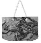 Chinese Dragons In Black And White Weekender Tote Bag