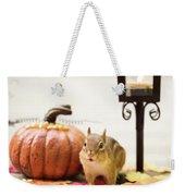 Chipmunk In The Autumn Weekender Tote Bag