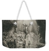 Christ Crucified Between The Two Thieves   The Three Crosses          Weekender Tote Bag