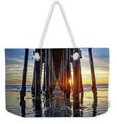 Christmas Eve At The Pier Weekender Tote Bag
