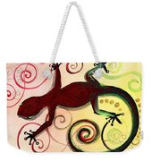 Christmas Gecko With Gold Poop Weekender Tote Bag