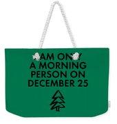Christmas Morning Person Weekender Tote Bag by Nancy Ingersoll