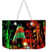 Christmas Red And Green Weekender Tote Bag
