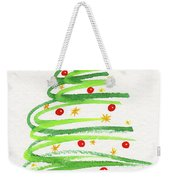 Christmas Tree With Decoration Weekender Tote Bag