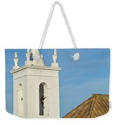 Church Bell Tower Behind Tiled Roofs In Tavira Weekender Tote Bag