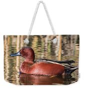 Cinnamon Teal On The Pond Weekender Tote Bag