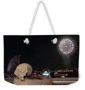 City Fireworks Weekender Tote Bag