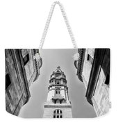 City Hall In Center City Philadelphia In Black And White Weekender Tote Bag