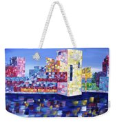 Cityscape Cleveland Weekender Tote Bag