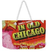 Classic Movie Poster - In Old Chicago Weekender Tote Bag