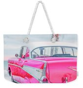 Classic Vintage Pink Chevy Bel Air  8x10 Scene Weekender Tote Bag