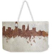 Cleveland Ohio Rust Skyline Weekender Tote Bag