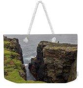 Cliff Vigil At Esha Ness On Shetland Mainland Weekender Tote Bag