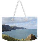 cliffs and coast at St. Abbs Head, Berwickshire Weekender Tote Bag