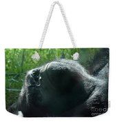 Close-up Of Frowning Adult Mountain Gorilla Weekender Tote Bag