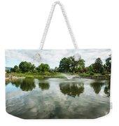 Clouds On Ashley Pond Weekender Tote Bag