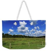 Clouds Surround The Landscape Weekender Tote Bag