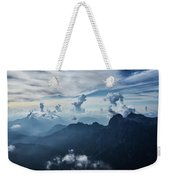 Moody Cloudy Mountains With A Lot Of Contrast And Shadows And Clouds Weekender Tote Bag