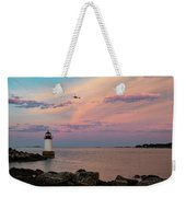 Coast Guard Rescue Over Winter Island Weekender Tote Bag by Jeff Folger