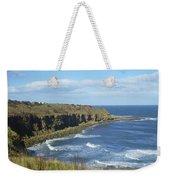 coastal bay at Cove with cliffs Weekender Tote Bag