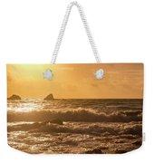 Coastal Sunrise Silhouette Weekender Tote Bag