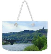 Cochem Castle And River Mosel In Germany Weekender Tote Bag