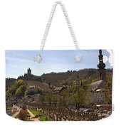 Cochem Castle And Town On Mosel In Germany Weekender Tote Bag