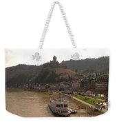 Cochem Castle, Town And River Mosel In Germany Weekender Tote Bag