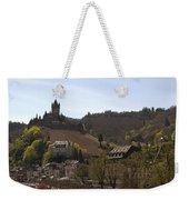 Cochem Main Street And Castle In Springtime In Germany Weekender Tote Bag