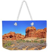 Colorado Arches Park Landscape Scrub Red Rocks Blue Sky 3335 Weekender Tote Bag