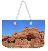 Colorado Arches Park Landscape Scrub Red Rocks Blue Sky 3340 Weekender Tote Bag