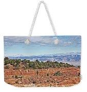 Colorado Blue Sky Red Rocks Clouds Trees 2 10212018 2857 Colorado  Weekender Tote Bag