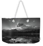 Colorado Mountain Lake In Black And White Weekender Tote Bag