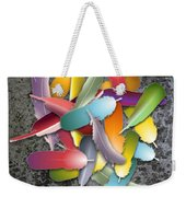 Colorful Feathers Weekender Tote Bag