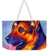 Colorful German Shepherd Dog Weekender Tote Bag