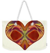 Colorful Heart - Naked Truth - Omaste Witkowski Weekender Tote Bag by Omaste Witkowski
