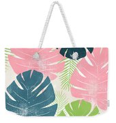 Colorful Palm Leaves 1- Art By Linda Woods Weekender Tote Bag