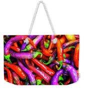 Colorful Peppers Weekender Tote Bag