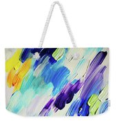 Colorful Rain Fragment 1. Abstract Painting Weekender Tote Bag